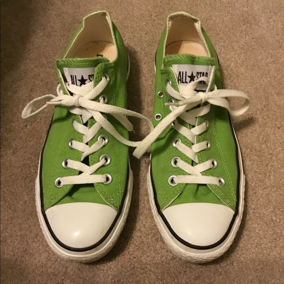 e0fe41decd43 Converse Shoes - Women s Green Converse All Star size 9